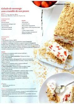 Revista Bimby - Junho 2015 Gluten Free Recipes, Healthy Recipes, Kitchen Reviews, Portuguese Desserts, Sorbets, What To Cook, Dairy Free, Food And Drink, Dessert Recipes