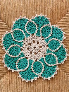 In just 4 hours, you can stitch a beautiful doily. These 4 designs are made using size 3 cotton thread so they work up quickly!