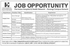 Newspaper-Jobs-Karachi-Health-Department Daily Dawn, Infection Control Nursing, Hospital Health, Newspaper Jobs, Assistant Manager, Job Advertisement, Health Department, Apply Online, Management
