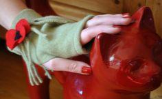 mitaine féminine à la nini green ninigreen.canalblog.com