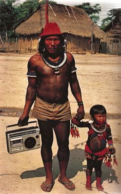 Kayapo people of Brazil, 1984.