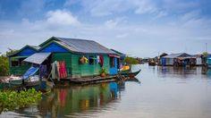 Le lac Tonlé Sap. Il est le plus grand d'Asie du sud-est, une petite mer…