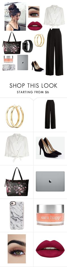 """""""Working In Style//"""" by serenityandclarity on Polyvore featuring Charlotte Russe, RED Valentino, River Island, JustFab, Elliott Lucca, Casetify, Sara Happ and Huda Beauty"""