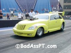 Bad Ass Chrysler PT Cruiser Chrysler Pt Cruiser, Chrysler Usa, Pt Cruiser Accessories, Carros Retro, Weird Cars, Drag Cars, My Dream Car, My Ride, Drag Racing