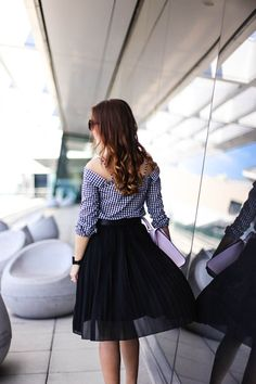 ROMANTIC OFFICE STYLE: GINGHAM