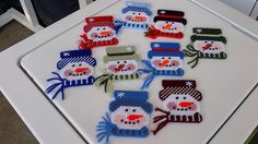 Snowmen Ornaments. These add a joyful and colorful accent to your holiday decorations. I sell them for only $3.00 each.