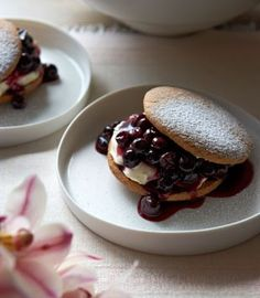 blueberry shortcakes with creme fraiche - km