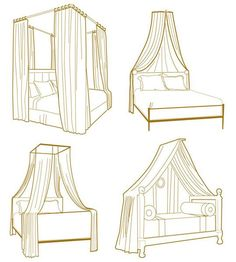 DIY | 10 Canopy Looks For Your Bed . Find something Cool for my daybed!