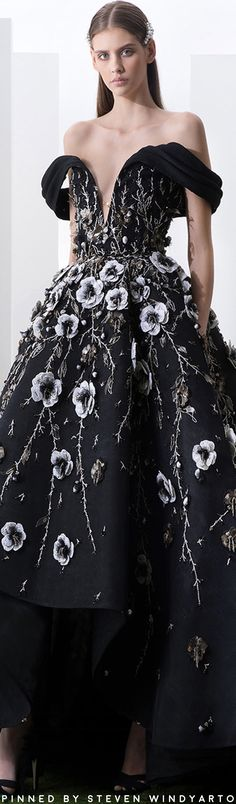 Saiid Kobeisy is a Lebanese Fashion designer that gives expression to modern-day woman, creating the perfect range of couture, bridal & ready-to-wear dresses. Saiid Kobeisy, Floral Fashion, Fashion Design, High Fashion Dresses, Spring Couture, Glamour, Luxury Dress, Couture Dresses, Beautiful Gowns