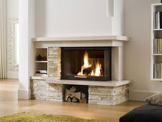 Home Fireplace, Home Renovation, My Dream Home, Home Projects, Sweet Home, Living Room, Places, Home Decor, Log Burner