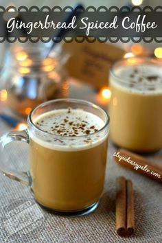 Gingerbread Spiced Bulletproof® Coffee   stupideasypaleo.com Click here for the recipe --> http://stupideasypaleo.com/2013/11/30/gingerbread-spiced-bulletproof-coffee/ #coffee #bulletproof #gingerbread #holiday
