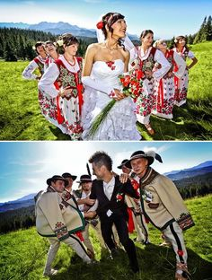 Polish folk wedding