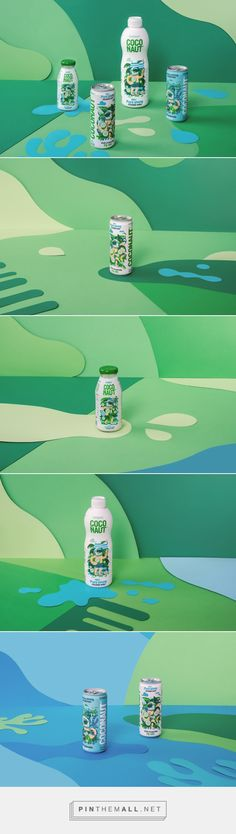 Coconaut GoHigher! Coconut water packaging design by Sixtyone Yards - http://www.packagingoftheworld.com/2017/09/coconaut-gohigher.html