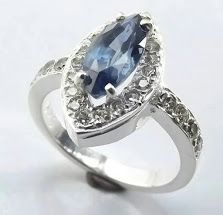 Marquise Blue Sapphire and Diamonds set in white gold. What a stunning combination! Commissioned by Customer, made by us!