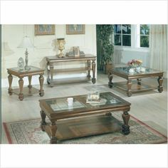 Bundle-77 Coffee Table Set (2 Pieces) by Parker. $654.52. [***INCLUDED IN THIS SET: (1)Coffee Table, (1)End Table] Features: -Formal style.-Lower storage shelves. Includes: -Set includes cocktail table and end table. Color/Finish: -Espresso finish.