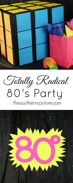 Throw an party on a budget. you ideas for decorations, food, attire, games, and much more. 80s Birthday Parties, Birthday Games For Adults, Adult Party Games, 30th Birthday, Themed Parties, 80s Party Foods, Decade Party, Fiestas Party, Party Fiesta