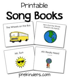 "These printable song books can be used  in the classroom while singing songs. The children in my class use them to sing along as they ""read"" or sing the pages.  We also use several of the ""Raffi Songs to Read"" books which can be purchased at Amazon.com. How to use these books: Print the PDF, …"