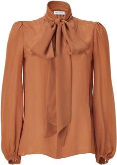 Emilio Pucci Amber Tie Neck Silk Top