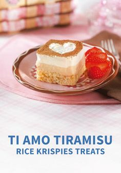 Fluffy Layers Of Vanilla And Espresso Flavored Cream Top Crispy Little Rice Krispies
