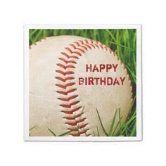 Happy Birthday Baseball Napkin