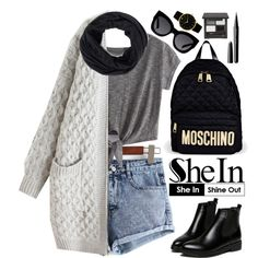 Shein by oshint on Polyvore featuring Moschino, Larsson & Jennings, Karen Walker, Marc Jacobs, Sheinside and shein