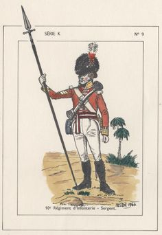 British; 10th Regiment of Foot, Centre Company, Sergeant, Egypt, 1801