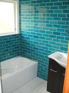 Middle Earth Tiles Hacienda Turquoise 200x75 Bathroom Feature Wall Tile Tiling Master
