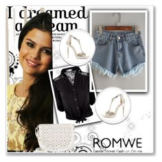 """""""Romwe"""" by begajeta2309 ❤ liked on Polyvore featuring Under One Sky and Jimmy Choo"""