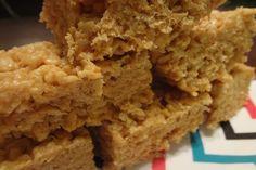Brown Butter Peanut Butter Rice Crispie Treats