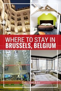 Whether you're visiting Belgium for the first time or you need to recommend a hotel to visiting family we tell you exactly where to stay in Brussels, Belgium from the top luxury hotels in the city centre to family friendly, budget, and green hotels. Cheap Hotels, Top Hotels, Best Hotels, Luxury Hotels, Hotels Disney, European Destination, European Travel, European Vacation, Villas