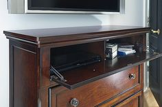 Rustic Brown Porter Media Chest View 3