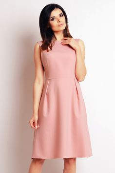 Světle růžové šaty M097