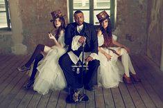 Steampunk Groom/Steampunk Brides - Steampunk fashion ideas for bridal party…