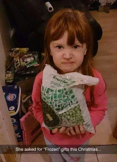 She asked for Frozen gifts for Christmas...