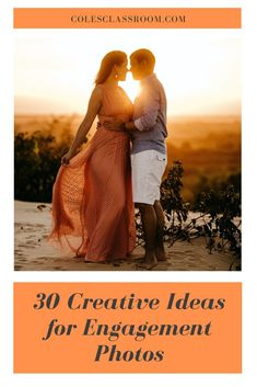 Just need a few new engagement photo poses and ideas? Check out this article and see great photo ideas for couples. #colesclassroom #engagement #photo #poses