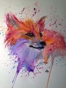 Image of Foxy foxy Jamie Taylor Art Watercolor Fox Tattoos, Watercolor Animals, Watercolor Paintings, Cute Art, Sculpture Art, Folk Art, Art Drawings, Art Projects, Fine Art Prints