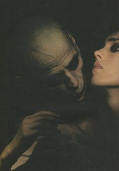 "Klaus Kinski and Isabelle Adjani in ""Nosferatu the Vampyre"", directed by Werner Herzog, 1979. (Original title: ""Nosferatu: Phantom der Nacht"" (Nosferatu: Phantom of the Night))"