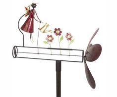 Garden Angel Whirligig Spinner Garden Decoration Kinetic Sculpture | eBay