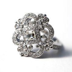 DUCHESS  Diamond Engagement Ring or Right Hand by BeautifulPetra, $1400.00
