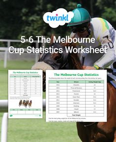 Learn to understand Melbourne Cup statistics with our maths worksheets to reinforce mean, median, mode and range. Ideal for Year students. Fun Math Activities, Comprehension Activities, Melbourne Cup, Activity Sheets, Classroom Displays, Task Cards, Horse Racing, Statistics, Maths