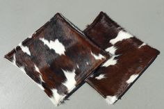 Reddish Brown Tricolor Cowhide Pillows