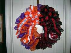 Mesh Wreath -- House Divided University of South Carolina  vs. Clemson University $45