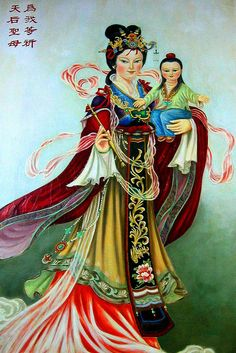 Jesus & Mary - Chinese style by littleboat5, via Flickr