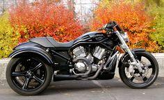 Harley V-Rod with Frankenstein Trike conversion.  SOOO much want.