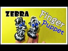 Rainbow Loom ZEBRA Finger Puppet. Designed and loomed by DIYMommy. Click on photo for YouTube tutorial. 03/28/14