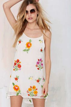 Bohemian Bones Mojave Embroidered Slip Dress   Shop Clothes at Nasty Gal!