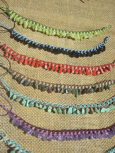 Macrame anklets by Katakali, via Flickr