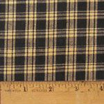 Black 4 Homespun Cotton Fabric