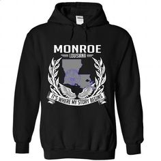 Monroe Louisiana tshirt and hoodie - #vintage tshirt #sweater pillow. I WANT THIS => https://www.sunfrog.com/No-Category/Monroe-Louisiana-tshirt-and-hoodie-7654-Black-Hoodie.html?68278