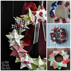 How to make a paper wreath - the 3d paper stars wreath but for with patriotic paper